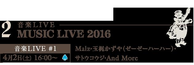 """""""大人の文花祭"""" MUSIC LIVE 2016"""